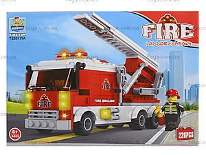 Конструктор пожарная машина, TS30111A, фото