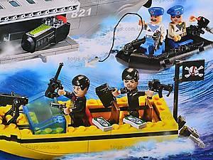 Конструктор «Ракетный крейсер», 821, детские игрушки