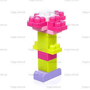 Конструктор Mega Bloks «Розовый», 80 деталей, DCH62, купить