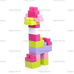 Конструктор Mega Bloks «Розовый», 80 деталей, DCH62, отзывы