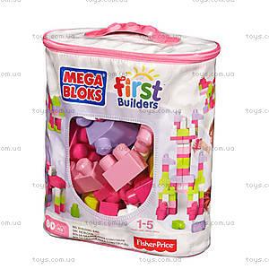 Конструктор Mega Bloks «Розовый», 80 деталей, DCH62