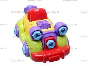 Конструктор с отверткой «Машина», 1264, детские игрушки