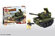 Конструктор с танком и военным, 81669, купить