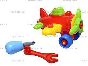 Конструктор «Самолетик», RG6605-1, детские игрушки