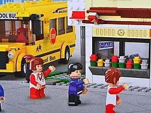 Конструктор «Школа и школьный автобус», M38-B0333R, магазин игрушек