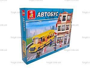 Конструктор «Школа и школьный автобус», M38-B0333R