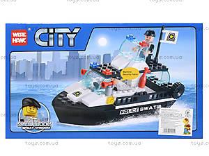 Детский конструктор полицейский «Катер», 85017, купить