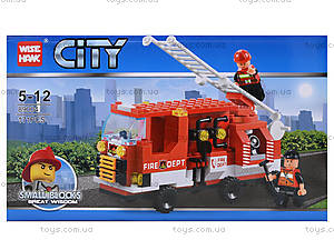 Конструктор «Пожарная машина», 171 деталь, 89004, фото