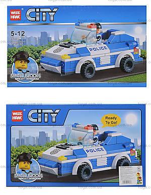 Конструктор для малышей «Полицейская машина», 81003