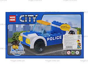 Конструктор для детей «Полицейская машина», 54 детали, 81008, купить