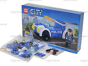 Конструктор для детей «Полицейская машина», 54 детали, 81008, фото