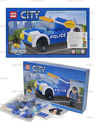 Конструктор для детей «Полицейская машина», 54 детали, 81008