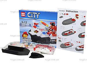 Детский конструктор «Патрульный катер», 89009, игрушки