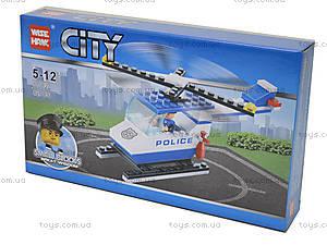 Детский конструктор «Вертолет-полиция», 81002, купить