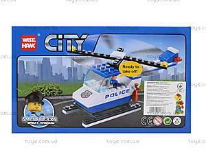Детский конструктор «Вертолет-полиция», 81002, отзывы