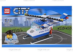 Детский конструктор «Вертолет-полиция», 81002, цена