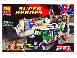 Конструктор для детей Spiderman, 236 деталей, 10239, отзывы