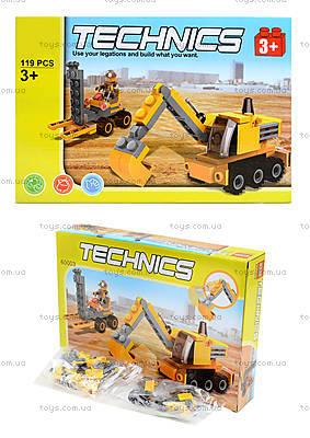 Конструктор для детей «Строительная техника»,119 деталей, 60003