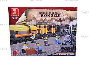 Детский конструктор «Железная дорога», 328 деталей, M38-B0233R, фото