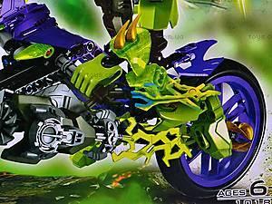 Конструктор-трансформер с мотоциклом, 10188, игрушки