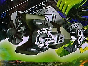 Конструктор-трансформер с мотоциклом, 10188, детские игрушки