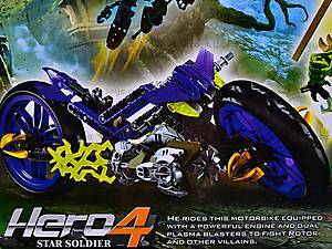 Конструктор-трансформер с мотоциклом, 10188, toys.com.ua