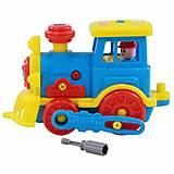 Конструктор-транспорт «Паровоз» синий цвет, 71255-1, отзывы