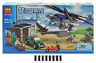 Конструктор Urban «Полицейский вертолет», 528 деталей, 10423, отзывы