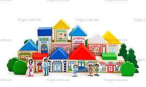 Конструктор деревянный «Веселый городок», 7678-1