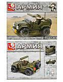 Конструктор «Военный джип», 115 элементов, M38-B0296, детские игрушки