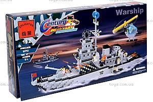 Конструктор «Военный корабль», 112, игрушки