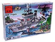 Конструктор «Военный корабль», 614 элементов, 820, купить