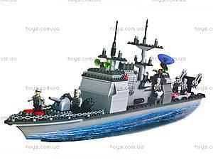 Конструктор «Военный корабль», 800 деталей, 40601