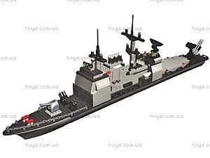 Конструктор «Военный корабль», 800 деталей, 40601, цена