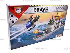 Конструктор «Военный корабль», 800 деталей, 40601, игрушки