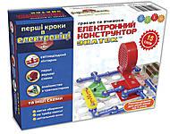 Конструктор Знаток «Первые шаги в электронике» набор В, REW-K061, детские игрушки