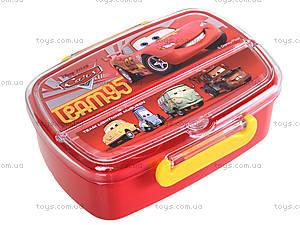 Контейнер для еды с приборами «Машинки», 703962