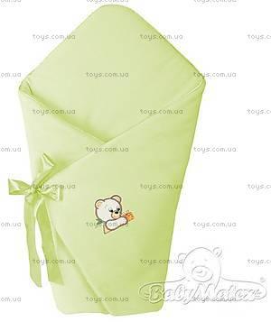 Конверт на выписку «Мишки», зеленый, 0009-52