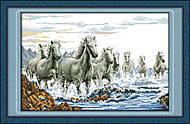 Кони в морской пене, набор для рукоделия, D033, фото