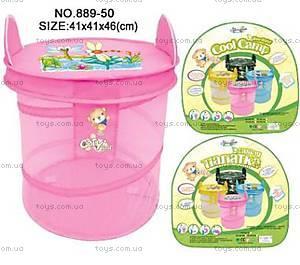 Корзина для игрушек, с ушками, 889-50B