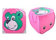 Розовый Мишка - корзина, F21507