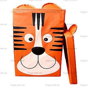 Корзина для игрушек с крышкой «Тигр»,