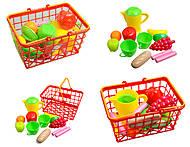 Корзина с набором посуды, 423 в.2, игрушки