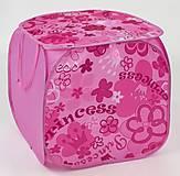 Корзина Принцесса розовая с ручками, 21503