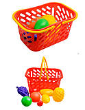 Игрушечная корзина с фруктами, 8 предметов, 04-453, отзывы