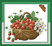 Корзина с ягодами, картина для рукоделия, J048