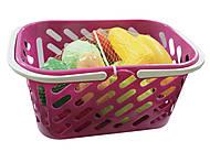Корзинка розовая с овощами, KW-04-454