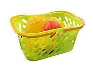 Корзинка с фруктами (салатовая), KW-04-453, детские игрушки