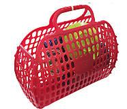 Корзинка с посудкой 13 предметов красная, 04-469, фото