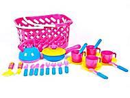 Корзинка с посудой розовая, KW-04-438, отзывы
